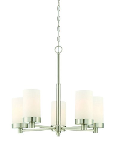 Trade Winds Lighting TW022020BN 5-Light Modern Chandelier in Brushed Nickel