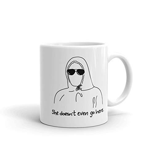 Mean Girls Mug, She Doesn't Even Go Here, damien mug, mean girls, coffee mug, mean girls quote mug, tea mug, birthday gift, graduation gift (Damien She Doesn T Even Go Here)