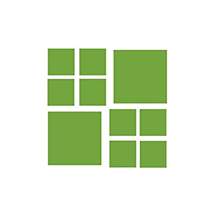 Amazoncom Set Of 120 3 And 6 Lime Green Squares Vinyl Wall
