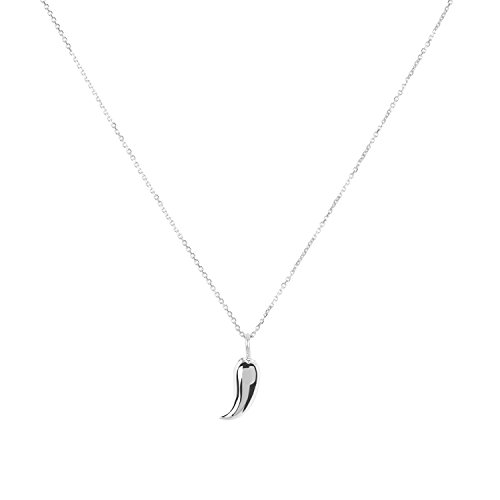 (Sterling Silver Chili Pepper Pendant Necklace,)