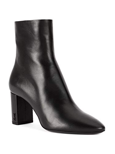 Laurent 5293500rrvv1000 Leather Ankle Black Women's Saint Boots HwqdExT