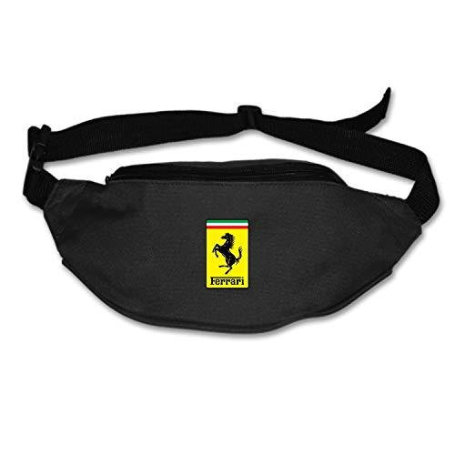 Unisex Ferrari Fanny Pack Waist/Bum Bag Adjustable Belt Bags Running Cycling Fishing Sport Waist Bags Black