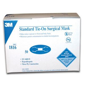 50 X Face 1816 Standard Surgical Mask Amazon Tie-on ref uk co