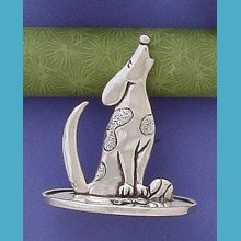 Basic Spirit Dog Ring Holder * Handcrafted Pewter Home Lead-Free RGH-14