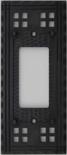 Arts & Crafts Mission Style Oil Rubbed Bronze 1 Gang Switch Plate - 1 GFI/Rocker (Crafts Mission Bronze Finish)