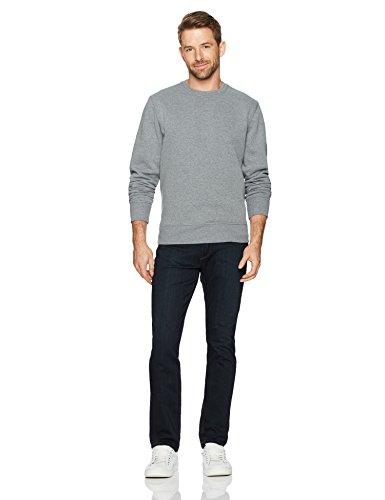 Amazon Essentials Men's Crewneck Fleece Sweatshirt, Light Grey Heather, Large