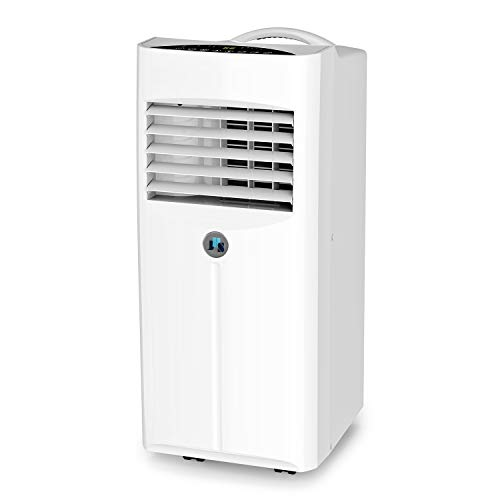 (JHS 10,000 BTU Portable Air Conditioner, 3-in-1 Floor AC Unit with 2 Fan Speeds, Remote Control and Digital LED Display, Cover up to 300 Sq. Ft.)