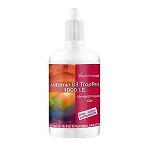 Vitamine D3 Huile 1000 I.E. – 100ml – dosage élevé – Cholecalciferol