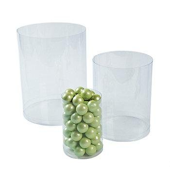 Cool Fun 13630491 Plastic Clear Candy Cylinders ()
