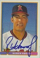 Ruben Amaro California Angels 1991 Bowman Autographed Card. This item comes with a certificate of authenticity from Autograph-Sports. Autographed