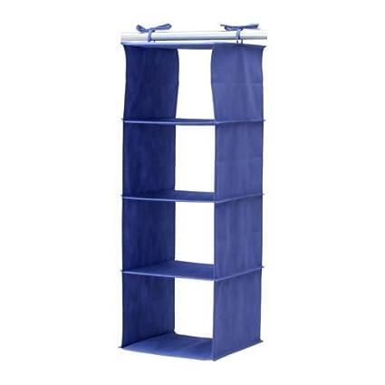 IKEA jall Organizador azul para colgar en armario, apto para zapatos, ropa y accesorios