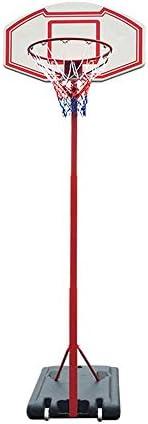 屋内バスケットボールラック 屋内キッズバスケットボールボックス青少年ホームアウトドア取り外し可能なリフトバスケットボールスタンド スタンディングバスケットボールセット (Color : Red, Size : 2.10-2.60m)