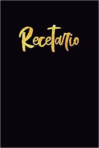 Recetario: Libreta a rayas pequeña, libro de recetas en ...