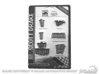1966 Interior Screw (Mustang Interior Trim Screw Kit Convertible 1964 - 1966)