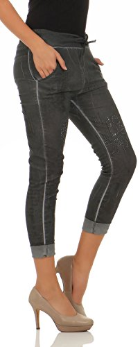 Mujer Malito Gris Jogg Oscuro Stretch Jeans 7556 Pantalón q6PFXw6