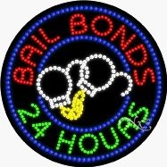 24 Hours Bail Bonds LED Sign (High Impact, Energy Efficient)