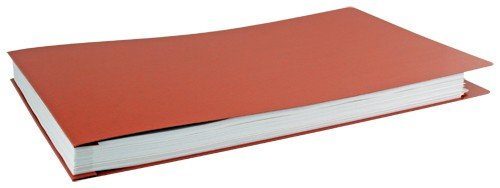 11x17 Report Cover Fiberboard Pressboard Binder With Fold-over Metal Fasteners (Brick Red)