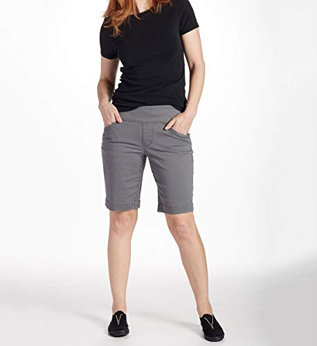 Jag Jeans Women's Ainsley Pull on Bermuda Short, Grey Streak, 4 ()