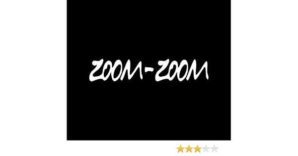 "JDM mazda zoom zoom logo sticker vinyl black red or white decal  8.5/"" x 0.75/"""