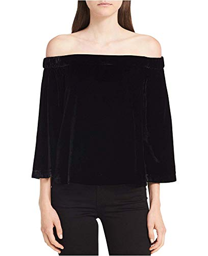 9853d88a9c843f Jual Calvin Klein Jeans Women s Long Sleeve Off The Shoulder Velvet ...