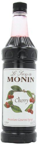 (Monin Flavored Syrup, Cherry, 33.8-Ounce Plastic Bottle (Pack of 4))