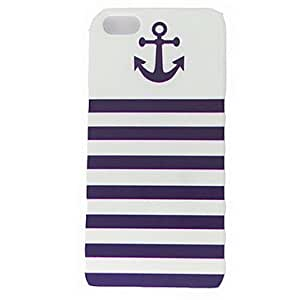 LZX Anchor Naval Stripe Pattern Hard Cases for iPhone 5/5S