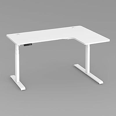 Electric Height Adjustable Standing Desk-L shape(Right Side Desktop)