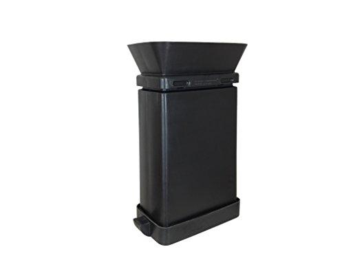 (EZ Dump Commercial, Plastic 23- Gallon SmartcanMax Black with Funnel, Rectangular, 29