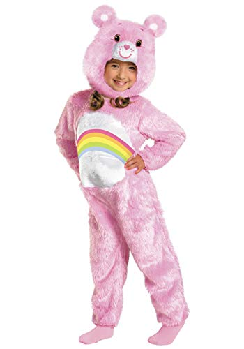 (Care Bears Cheer Bear Deluxe Plush Costume, Pink/Rainbow,)