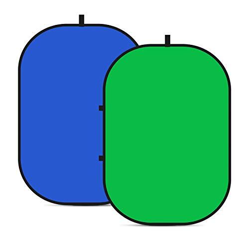Neewer Chromakey-Hintergründe, doppelseitiger grüner Bildschirm und blauer Bildschirm, 2-in-1-zusammenklappbarer und reversibler Hintergrund für Fotografie, Spiele und Live-Streaming, 1,5 x 2 m