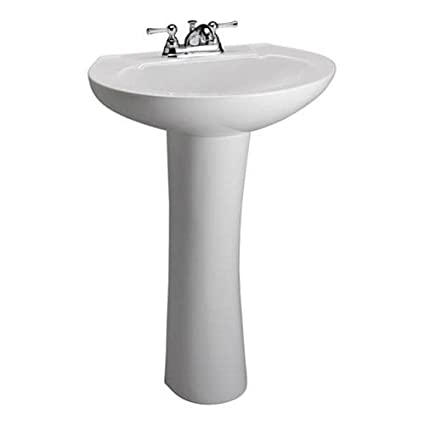 barclay 3 201wh hampshire 450 pedestal lavatory in white pedestal
