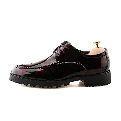 Los Gruesos De La Rojo Oxford Zapatos Antideslizantes Formales Hombres Moda fYvPqA