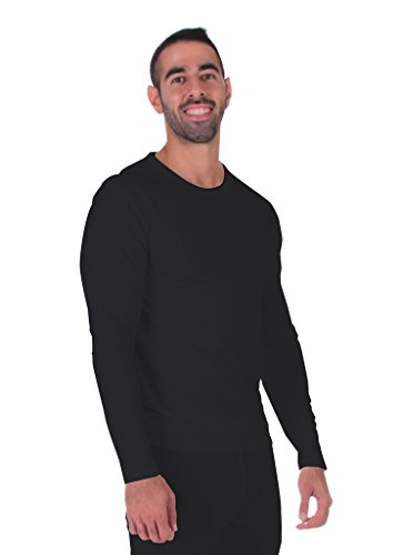 Men's Thermal Top Lightweight Ultra Soft Fleece,Base Layer, Small-Blue Heavyweight Long Underwear Tops