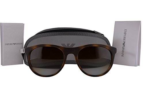 a8952378572 Image Unavailable. Image not available for. Colour  emporio armani ea4084  sunglasses matte dark havana w polarized brown gradient lens 5089t5 ea 4084