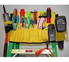 Ladder Caddy (Functional Fabrics 51TC/B-023 5-in-1 Tool Caddy-Black)