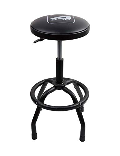 Aain LT013 Garage Bar Stool,Heavy Duty Adjustable Pneumatic Shop Stool with Black Powder Coating Finish Steel Legs for Garger,Workshop and Auto Repair Shop(Black) Bar Stool Seat Finish