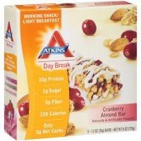 ATKINS DAY BREAK BAR,CRNBRY ALMD, 5/1.2 OZ