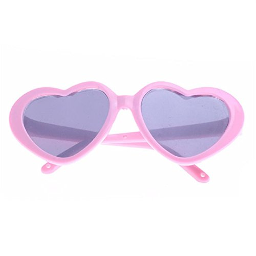 Witspace Stylish Heart Plastic Frame Sunglasses For 18 In Our Generation American Girl Doll Glasses - Sunglasses Stylish For Girls