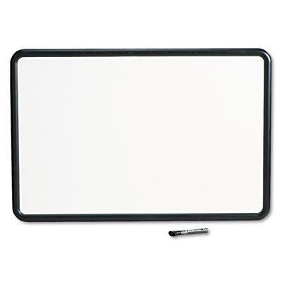 Contour Dry-Erase Board, Melamine, 36 x 24, White Surface, Black Frame, Sold as 1 Each ()