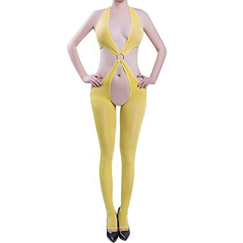Women's Sexy Sleepwear, Open Crotch Mesh Body Stockings Bodysuits Lingerie by JMETRIE (Baby A-boo Doll Lace Peek)