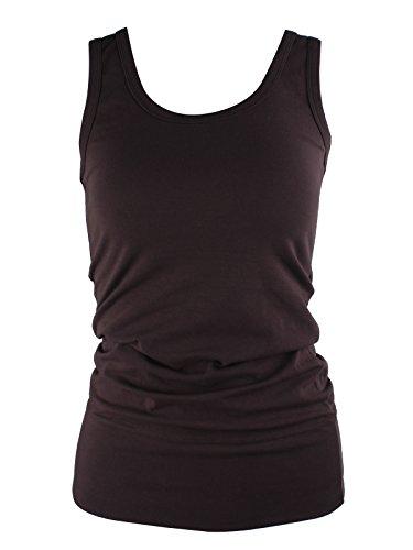 Moxeay - Camiseta sin mangas - para mujer café