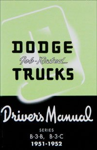 1951-1952 Dodge Truck Owners Manual (with Decal)