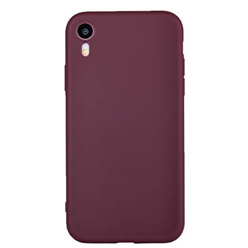 iPhone XR Case,iPhone XR Phone Case, Manleno Slim Fit Skin Feel Soft TPU Bumper Back Cover Case for iPhone XR 6.1 inch (Burgundy)