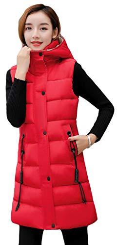 ハリウッド海嶺マイルドAlhyla ダウンベスト レディース 冬 秋 ファッション 韓国風 ロングスベスト 中綿 ベスト 無地 スリム ベスト