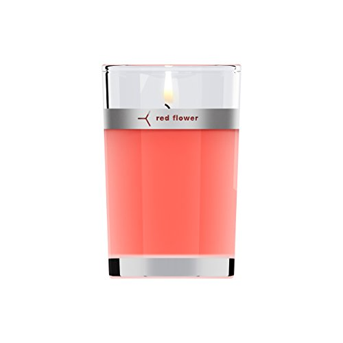 Red Flower Japanese Peony Petal Topped Candle, Japanese Peony, 6 oz. (Petals Peony)