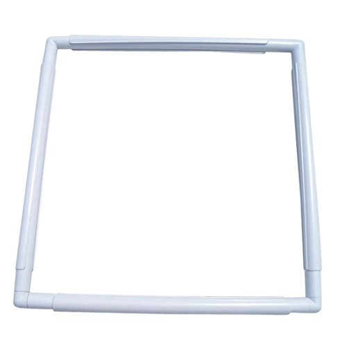 Oldeagle Practical Handhold Square Embroidery Plastic Frame Hoop Cross Stitch Craft DIY Tool (C) (Quilting Hand Square Hoop)