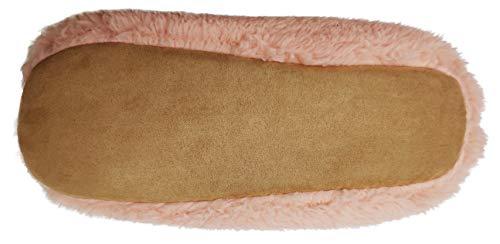 Slipper Indoor Finoceans Women Shoes Warm 10 Winter Pink Booties Womens Men Soft ZZqn5Aa