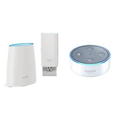 Orbi Home WiFi System by NETGEAR. Better WiFi Everywhere with 3 Gigabit Speed, Tri-Band Mesh WiFi, Easy Setup, Replaces WiFi Range Extenders. Compatible with Amazon Echo/Alexa