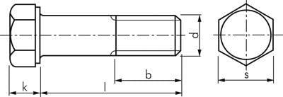 Sechskantschraube DIN 931 M 20x200 Stahl verzinkt 8.8 Werkstoff:Stahl verzinkt 8.8 d:M 20mm l:200