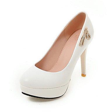 Talones de las mujeres Zapatos Primavera Verano Otoño Invierno Club de la PU para oficina y del partido de la carrera y del vestido de noche del tacón de aguja Negro Rosa Blanco Black
